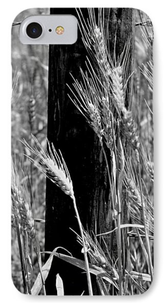 IPhone Case featuring the photograph Wheat And Fence Post by Ellen Tully