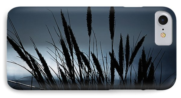 Wheat Stalks On A Dune At Moonlight IPhone Case