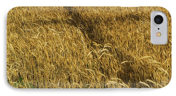 IPhone Case featuring the photograph Wheat With Cross  by Rob Graham
