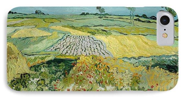 Wheatfields Near Auvers-sur-oise IPhone Case by Vincent van Gogh