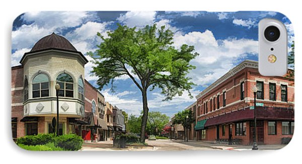 Wheaton Front Street Panorama IPhone Case by Christopher Arndt