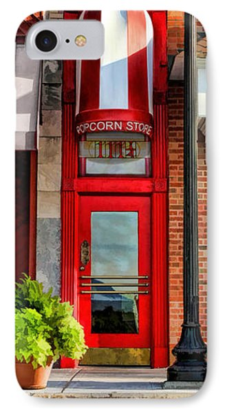 Wheaton Little Popcorn Shop Panorama IPhone 7 Case by Christopher Arndt