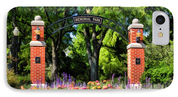 Wheaton Memorial Park Phone Case by Christopher Arndt