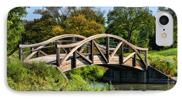 Wheaton Northside Park Bridge Phone Case by Christopher Arndt