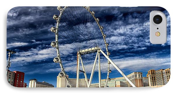 IPhone Case featuring the photograph Wheel In The Sky Las Vegas by Michael Rogers