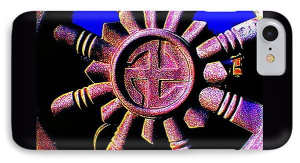 Buddhist Dharma Wheel 1 IPhone Case by Peter Gumaer Ogden