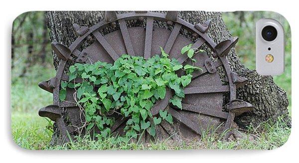 Wheel Of Steel Phone Case by GD Rankin