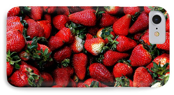 Wheelbarrow Of Strawberries IPhone Case by Al Bourassa