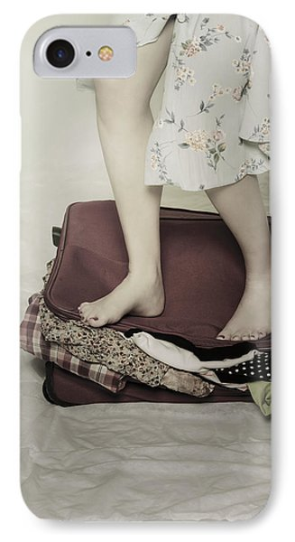 When A Woman Travels Phone Case by Joana Kruse