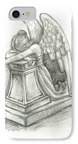 When Angels Weep 2 Phone Case by Lina Zolotushko