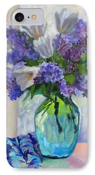 When Lilacs Bloomed IPhone Case by Bonnie Mason