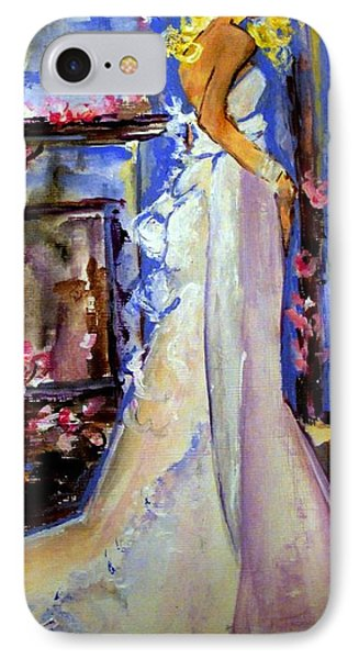 IPhone Case featuring the painting When Lovely Women by Helena Bebirian