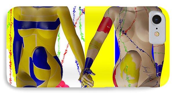 When Modern Met Abstract  Phone Case by Sir Josef - Social Critic -  Maha Art