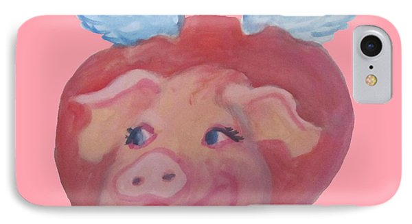 When Pigs Fly Phone Case by Cherie Sexsmith