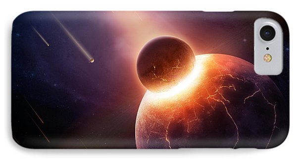 Planets iPhone 7 Case - When Planets Collide by Johan Swanepoel