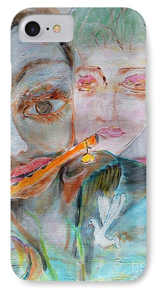 When She Fall In Love With The Vagabond Flute Player IPhone Case