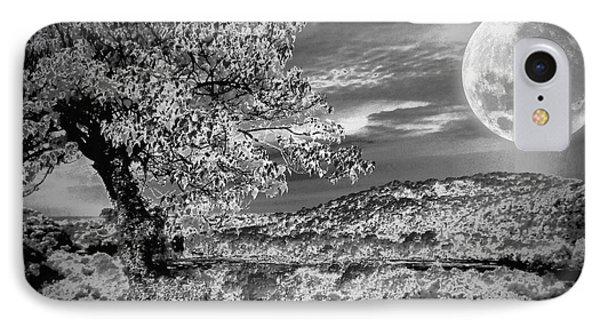 IPhone Case featuring the photograph When The Moon Comes Over Da Mountain by Robert McCubbin