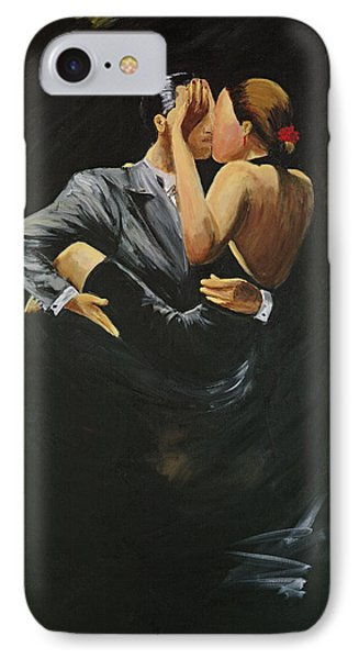 IPhone Case featuring the painting When We Tango by Sheri  Chakamian