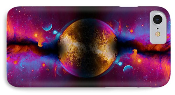 When Worlds Collide In Fire IPhone Case by Elaine Plesser
