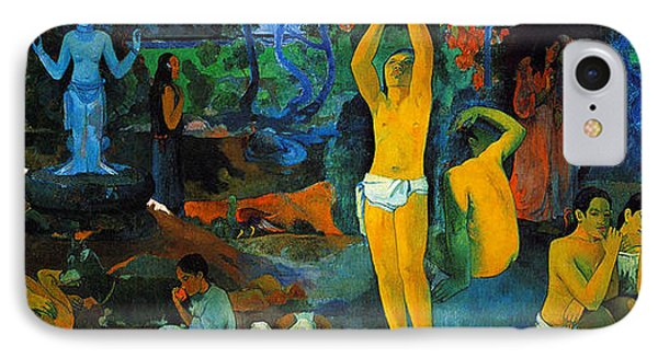 Where Do We Come From. What Are We Doing. Where Are We Going IPhone Case by Paul Gauguin