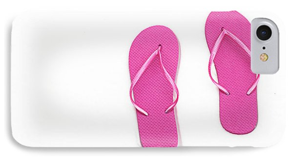Where On Earth Is Spring - My Hot Pink Flip Flops Are Waiting Phone Case by Andee Design
