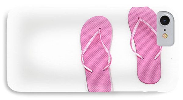 Where On Earth Is Spring - My Pink Flip Flops Are Waiting Phone Case by Andee Design