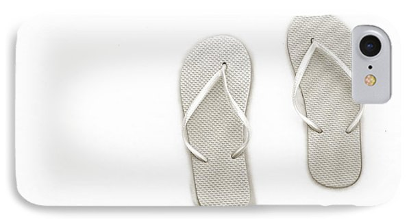 Where On Earth Is Spring - My Silver Flip Flops Are Waiting Phone Case by Andee Design