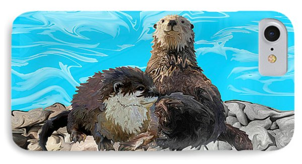 Where The River Meets The Sea Otters IPhone Case