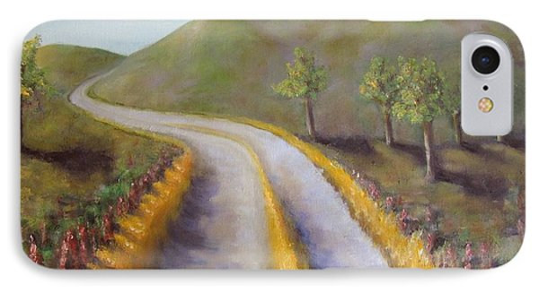 Autumn Road IPhone Case by Laurie Morgan
