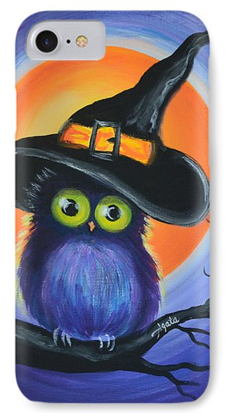 IPhone Case featuring the painting Owl Spook You by Agata Lindquist