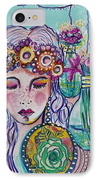 Whimsical Hippie Girl IPhone Case