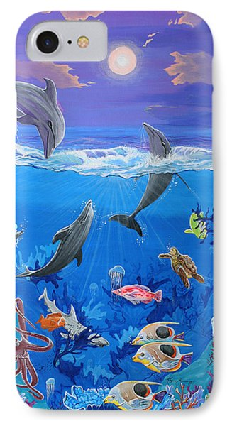 Whimsical Original Painting Undersea World Tropical Sea Life Art By Madart Phone Case by Megan Duncanson