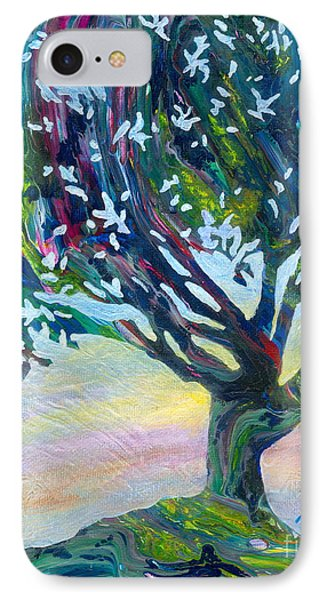 Whimsical Tree Pastel Sky IPhone Case by Denise Hoag