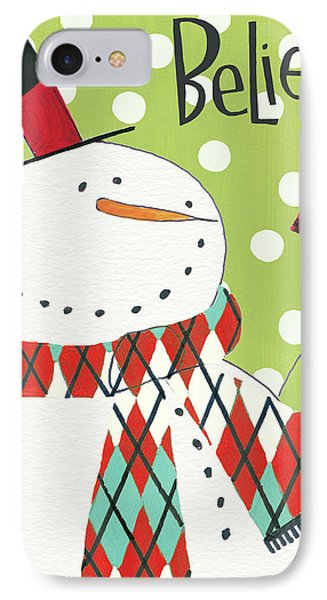 Whimsy Winterland I IPhone Case by Anne Tavoletti