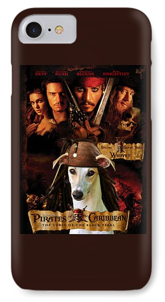 Whippet Art - Pirates Of The Caribbean The Curse Of The Black Pearl Movie Poster IPhone Case