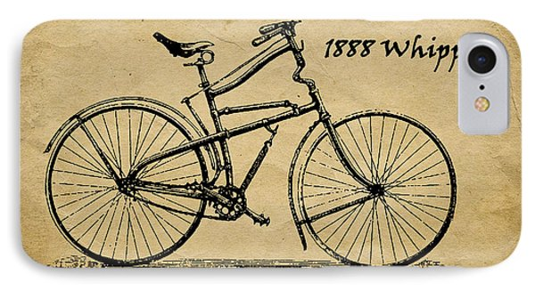 Whippet Bicycle IPhone Case by Tom Mc Nemar