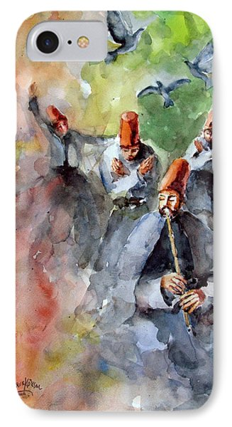 Whirling Dervishes And Pigeons         Phone Case by Faruk Koksal