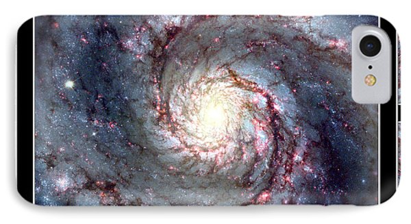 Whirlpool Galaxy Self Framed Phone Case by Rose Santuci-Sofranko