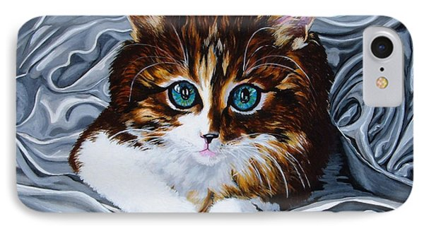 Whiskers The Cat Phone Case by Annette Jimerson