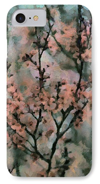 Whispering Cherry Blossoms Phone Case by Janice MacLellan