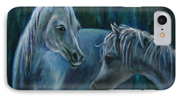 IPhone Case featuring the painting Whispering... by Xueling Zou