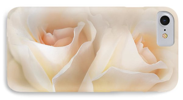 Whispers Of Peaches And Cream Roses IPhone Case by Jennie Marie Schell