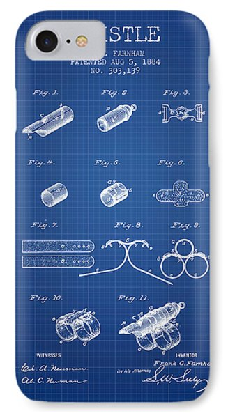 Whistle Patent From 1884 - Blueprint IPhone Case