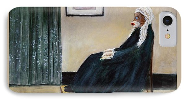 IPhone Case featuring the painting Whistlin Mother by Randol Burns