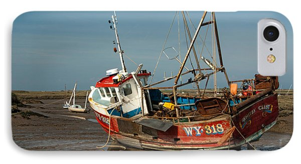 Whitby Crest At Brancaster Staithe IPhone Case by John Edwards