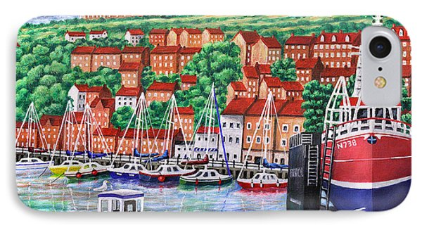 Whitby Harbour Phone Case by Ronald Haber