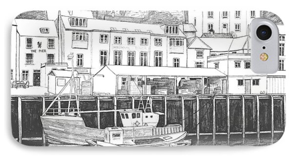 Whitby Harbour Phone Case by Shirley Miller