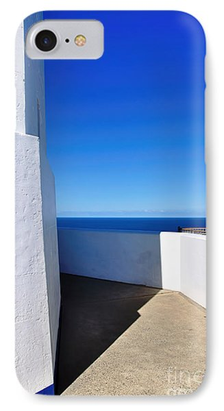 White And Blue To Ocean View Phone Case by Kaye Menner
