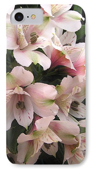 IPhone Case featuring the photograph White And Pink Peruvian Lilies by Diane Alexander