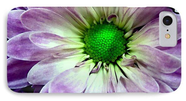 White And Purple Daisy Phone Case by Danielle  Parent